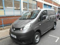 2013 NISSAN NV200 N-TECK 15DCI SAT NAV GPS R/CAMERA BLUETOOTH MOT EURO 5 REAR SHELF FITTED VGC
