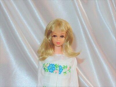 Vintage Mod Mattel Barbie Francie Doll Blonde TNT 1960s In Sugar Sheers Dress