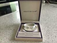 Equilibrium Silver Plated Friends Bangle