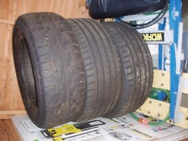 3 very good condition tyres off a stype jag