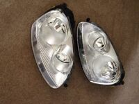 Golf MkV Headlights - little used, condition as new