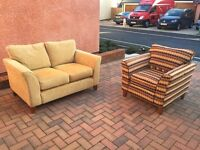 2 SEAT SOFA AND ARMCHAIR FROM SOFA SOFA