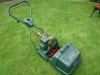 ATCO ENSIGN B12 SELF PROPELLED PETROL CYLINDER LAWN MOWER.
