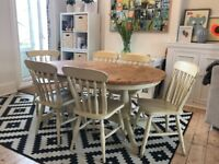 Shabby Chic Extending Pine Dining Table