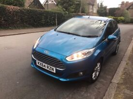 64 PLATE FORD FIESTA BLUE 16,800 MILES ONLY CAT D HIGH SPEC SUPERB CONDITION