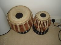 Pair of Tabla Drums with cushions