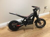 Oset 12.5 25v childs electric trials bike