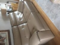 Electric recliner sofa leather