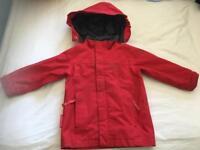 Age 3-4 red waterproof jacket