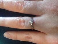 14k white gold .50k ring beautiful