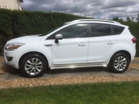 Ford Kuga titanium TDCI 2.0 diesel 2011 only 57000 miles FSH MOT ONE YEAR White alloys part leather