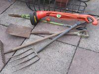 Electric Strimmer - Spade - Fork - Rake & Edger - Good Working order.