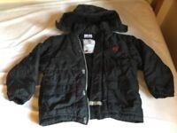 Black Lego winter coat, age 7-8