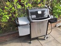 weber Spirit Gas Barbecue summer cooking in the garden