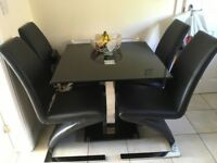 Dinning table and 2 chairs
