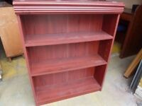 Book shelves Small Red wood Four available Delivery Available