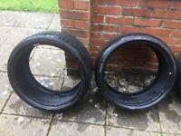 2 x 255 / 30 R 19 Run Flat Tyres, 1 Pirelli P Zero & 1 Bridgestone Potenza Nearly New cost £350