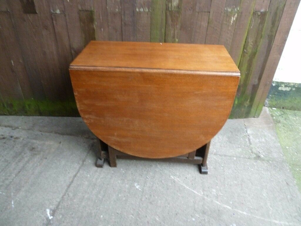Round Ended Drop Leaf Dining Table Delivery Available