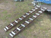 PAIR OF 6FT-7IN STEEL / ALLOY ROLLER RAMPS FOR TRAILER/VAN ETC..