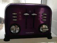 Morphy Richards Purple 4 Slice Toaster