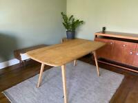 Ercol plank mid century dining table