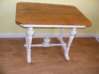 CAN DELIVER - SPACE SAVER FRENCH ANTIQUE CHABBY CHIC TABLE IN VERY GOOD CONDITION
