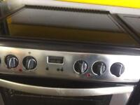 Stainless steel belling 60cm ceramic hub electric cooker grill & double fan assisted ovens with guar