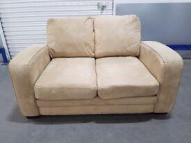 DFS 2 seater fabric lazyboy sofa
