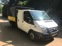 13Ford transit T350 100BHP double cab tipper