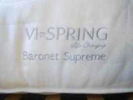 VI Spring Baronet Supreme Kingsize Mattress with bed Frame