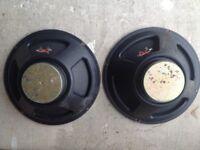 2x12'' speakers taken from a Fender FM100, 8ohm