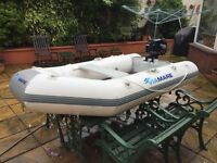 Dingy with outboard