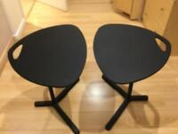 Two ikea computer tables.