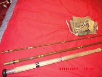 """Old Hardy 14'3"""" Invincible Salmon Fly Rod."""