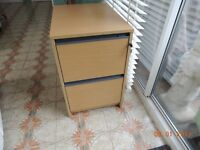 Filing Cabinet, light oak, two drawers. As new, hardly used.