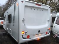☆ 2009/10 SWIFT COASTLINE 550SE ☆ 4 5 BERTH TOURING CARAVAN ☆ FIXED BED ☆FULLY SERVICED☆IMMACULATE☆