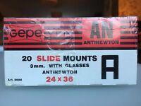 GEPE slide mounts with glass