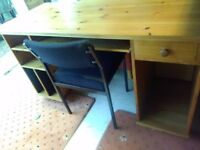 solid pine desk and office tables