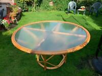 Glass Cane Table