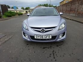 2008 MAZDA 6 2.0 DIESEL,SERVICE HISTORY,LONG MOT,FULLY LOADED,HPI CLEAR,LEATHER HEATED SEAT