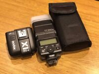 Godox TT350S 2.4G TTL Speedlite Flash + X1T-S TTL 2.4G Trigger Transmitter + Softbox + Bowers Mount