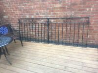 9ft Wide Driveway Gates / Double Gates / Wrought Iron Metal Gates- can deliver