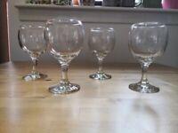 Set of 4 good quality Ikea wine glasses £2