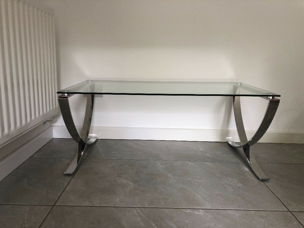John Lewis Vienna Coffee Table Metal Glass In Great Cambourne Cambridgeshire Gumtree