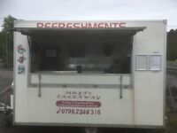 Catering Trailer, stainless steel surfaces, gas oven, grill, fridge freezer, drinks fridge and more