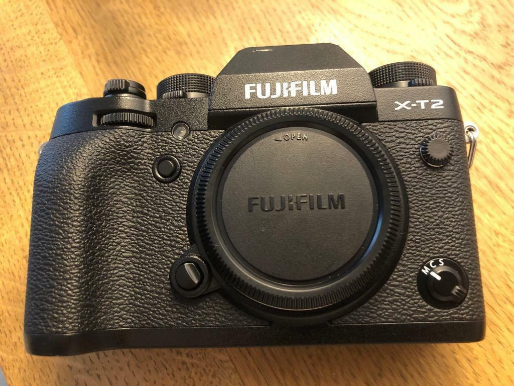 Fujifilm X T2 Digital Camera Body With Charger Strap And Extra Xt2 Only Flash