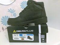 Safety Work Boots - DELTAPLUS (Redwood) Size 8