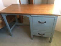 Beautiful Oak Desk Restored with Annie Sloan Chalk Paint in Duck Egg Blue, Shabby Chic