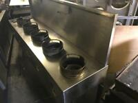Chinese cooker 5 burner gas commercial catering kitchen equipment restaurant catering business