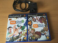 Playstation 2 (ps2) Eye Toy Camera with 2 games
